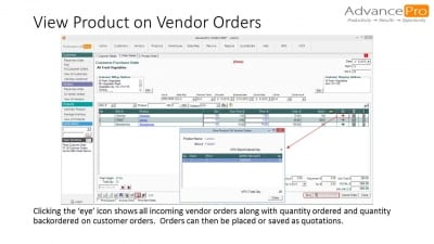 View Product on Vendor Orders