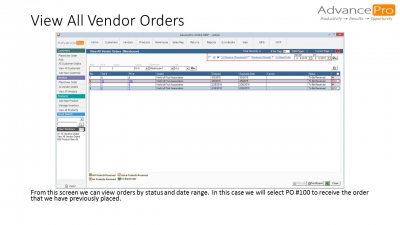 View All Vendor Orders